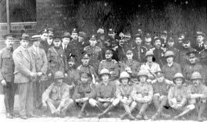Frontiersmen after the first Armistice Day Parade in Leeds