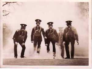 Gas practice Chelsea barracks 1935