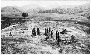 NZ exercise, Waimata Valley 1914