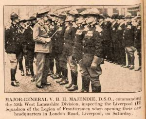 1939 Major General Majendie, Liverpool inspection.