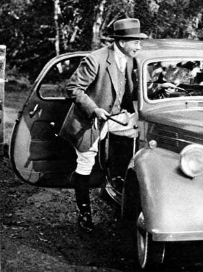H B C Pollard with car