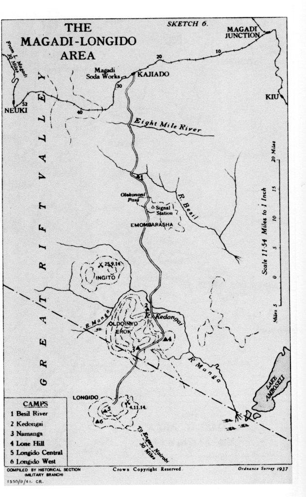 Map East Africa, 1915.  Source: Ordnance Survey