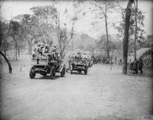 Motor Lorries. Source: Imperial War Museum Powell Collection Q15632