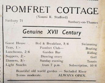 Pomfret Cottage May 1938
