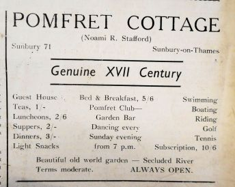 Pomfret Cottage May 1938