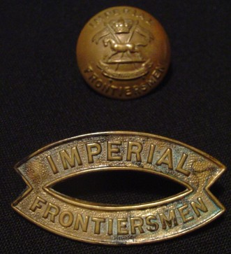 11 Imperial Frontiersmen button and titles