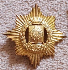 13 unknown LOF badge possibly for Wolseley helmet