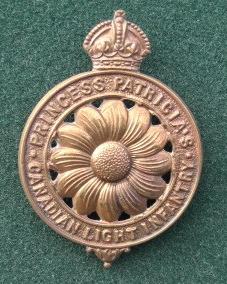 7 original Princess Patricia's Canadian Light. Infantry badge