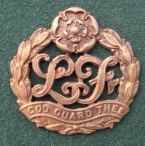 8 pre-1926 LOF cap badge England possibly Yorkshire